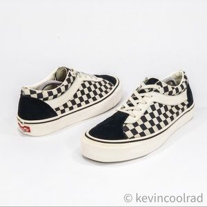 Vans Primary Check Old Skool Black and White Lows